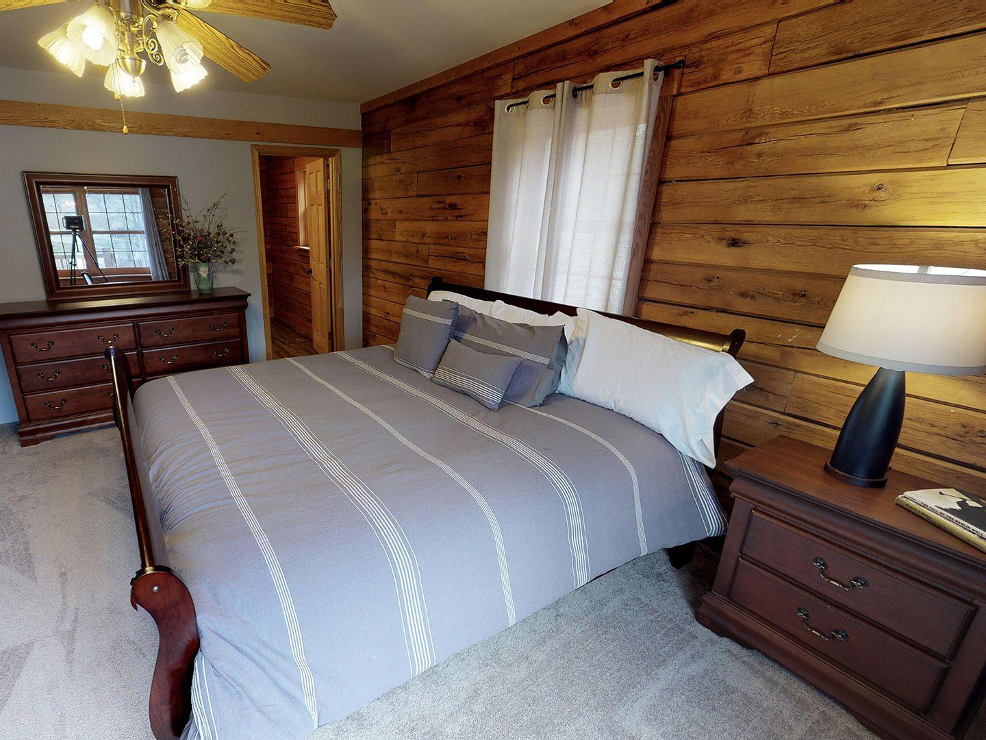 Hocking Hills Yurts and Cabins Bedroom 1